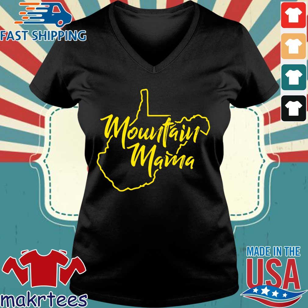 Mountain Mama West Virginia Shirts Ladies V-neck den