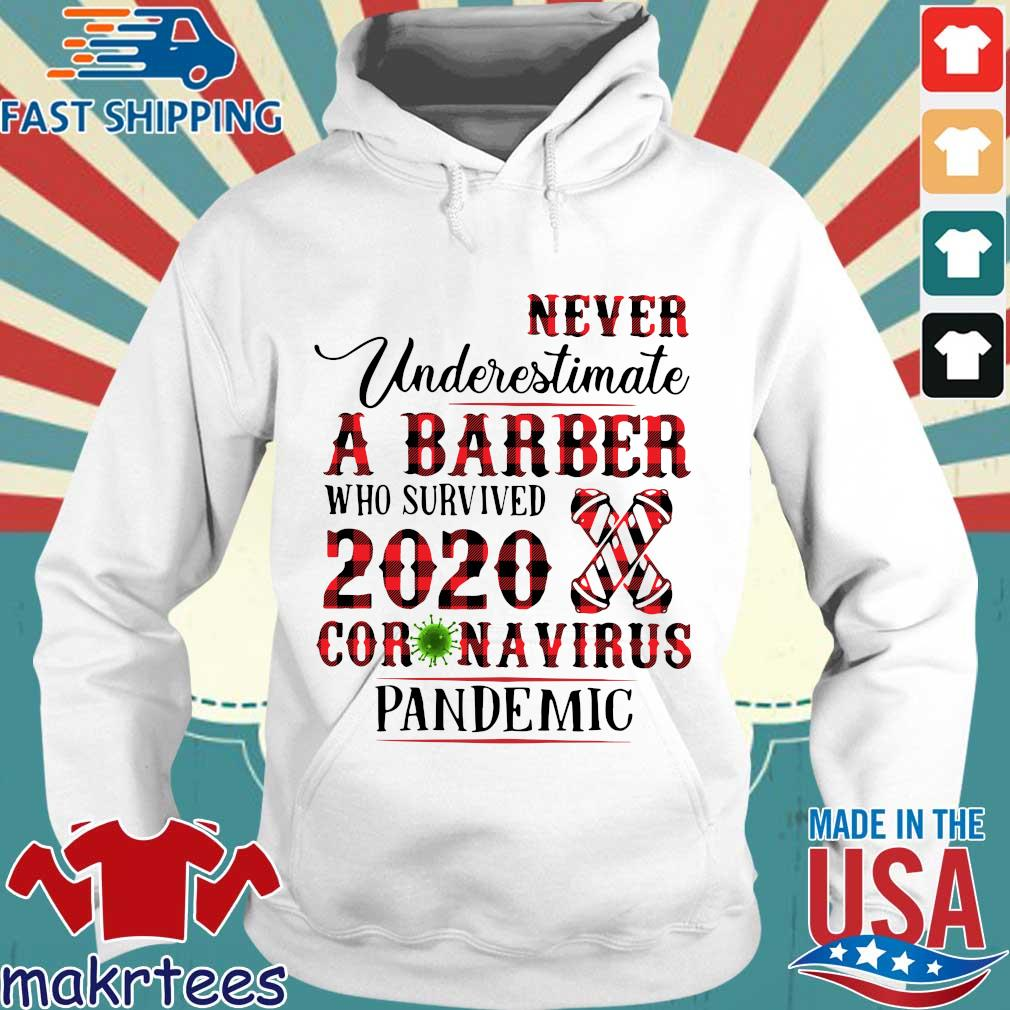 Never Underestimate A Barber Who Survived 2020 Coronavirus Pandemic Shirt Hoodie trang