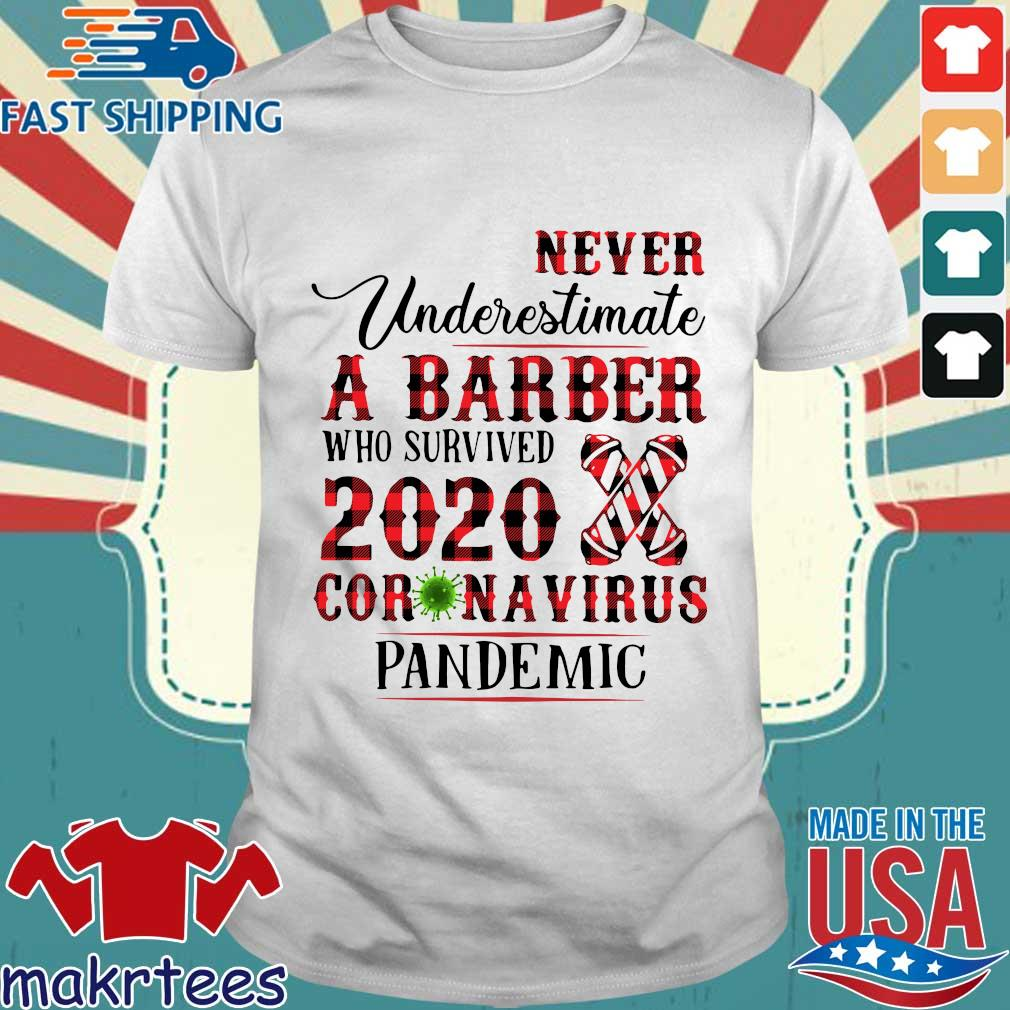 Never Underestimate A Barber Who Survived 2020 Coronavirus Pandemic Shirt
