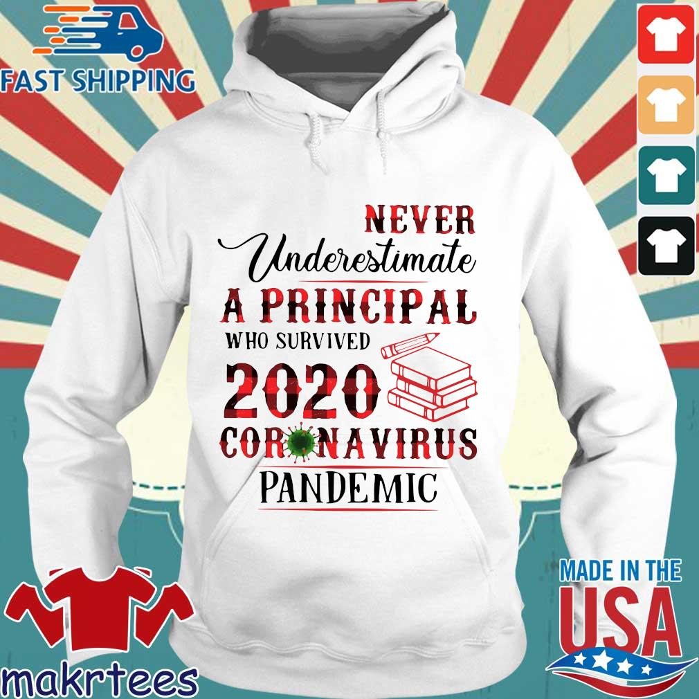 Never Underestimate A Principal Who Survived 2020 Corona Virus Pandemic Shirt Hoodie trang
