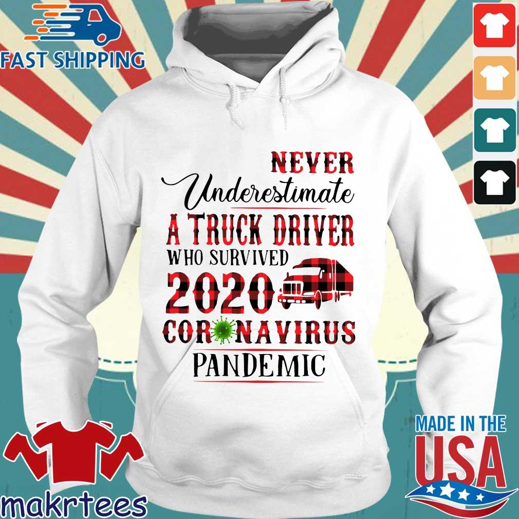 Never Underestimate A Truck Driver Who Survived 2020 Coronavirus Pandemic Shirt Hoodie trang