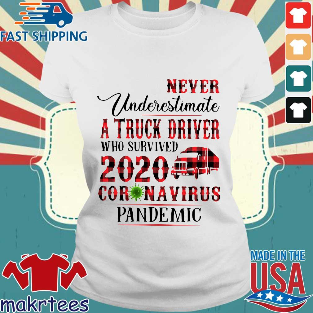 Never Underestimate A Truck Driver Who Survived 2020 Coronavirus Pandemic Shirt Ladies trang