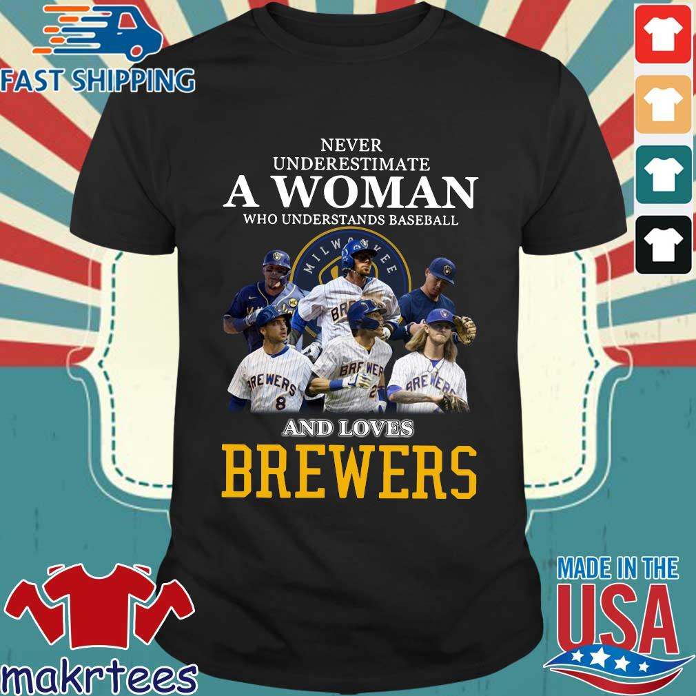 Never Underestimate A Woman Who Understands Baseball And Loves Brewers Shirts