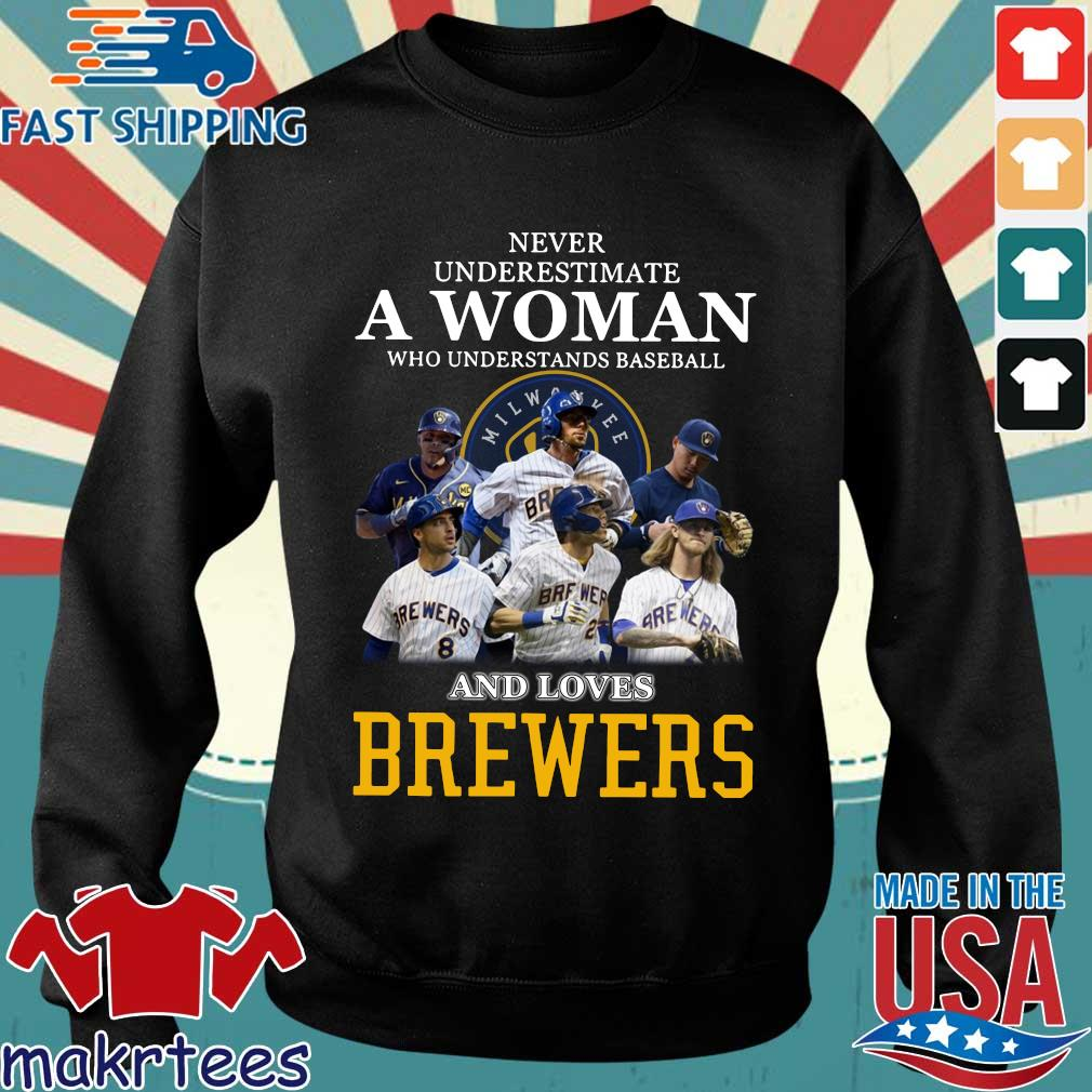 Never Underestimate A Woman Who Understands Baseball And Loves Brewers Shirts Sweater den