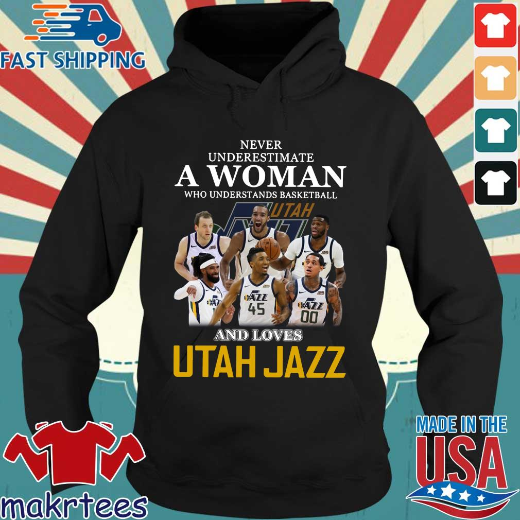 Never Underestimate A Woman Who Understands Baseball And Loves Utah Jazz Shirt Hoodie den