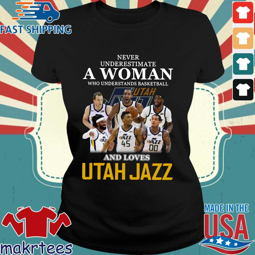 Never Underestimate A Woman Who Understands Baseball And Loves Utah Jazz Shirt Ladies den