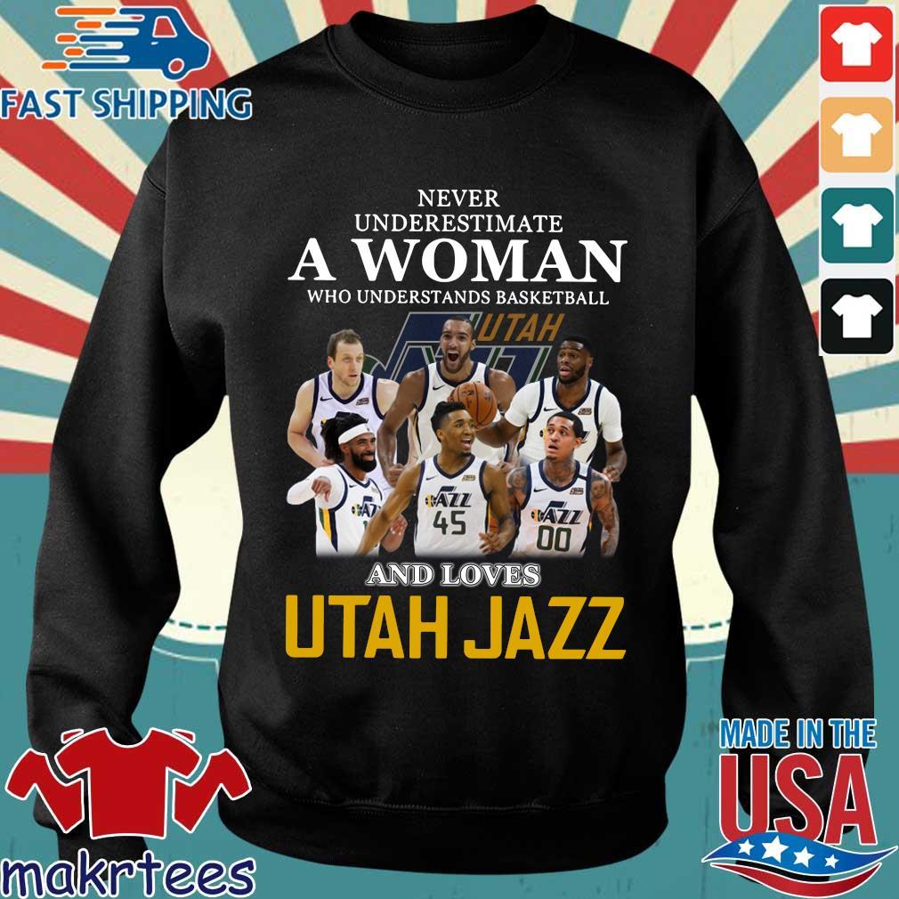 Never Underestimate A Woman Who Understands Baseball And Loves Utah Jazz Shirt Sweater den