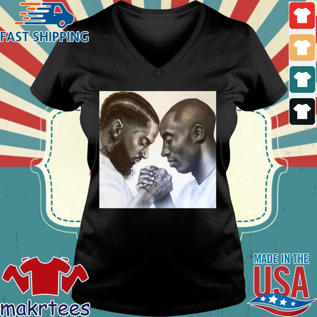 Nipsey Hussle And Kobe Bryant Forever Shirt Ladies V-neck den