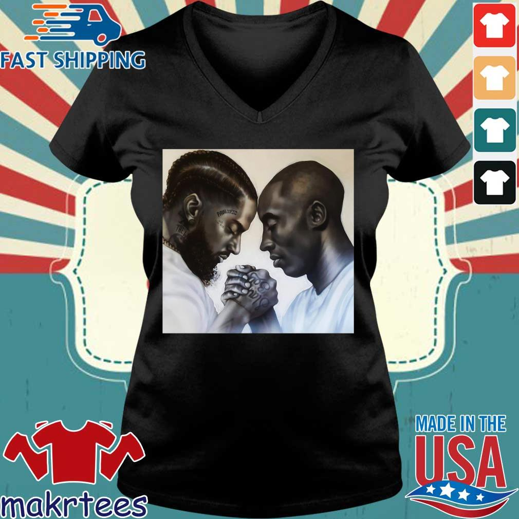 Nipsey Hussle And Kobe Bryant Forever T-Shirts Ladies V-neck den