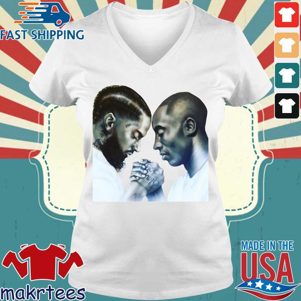 Nipsey Hussle And Kobe Bryant T-Shirt Ladies V-neck trang