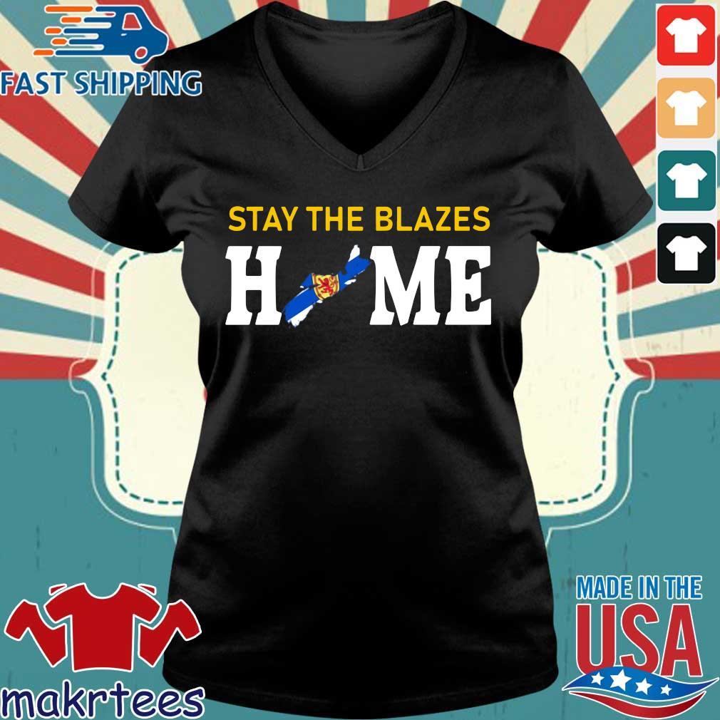 Nova Scotia Stay The Blazes Home Shirt Ladies V-neck den