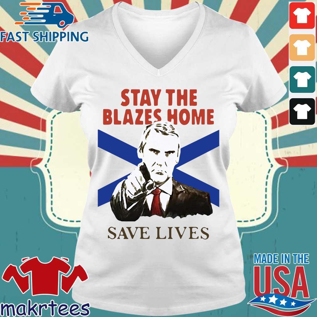 Nova Scotians Stay The Blazes Home Save Lives Covid-19 2020 Shirt Ladies V-neck trang