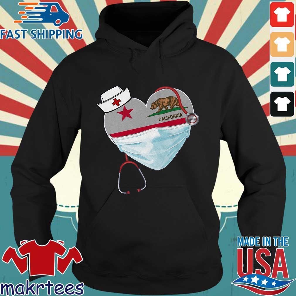 Nurse Heart Stethoscope California Shirt Hoodie den