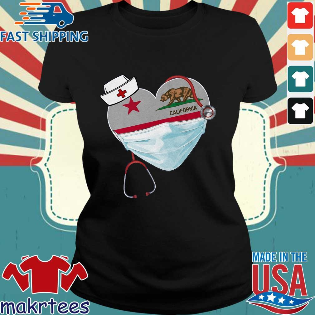 Nurse Heart Stethoscope California Shirt Ladies den