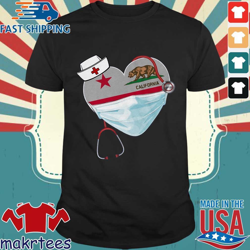 Nurse Heart Stethoscope California Shirt