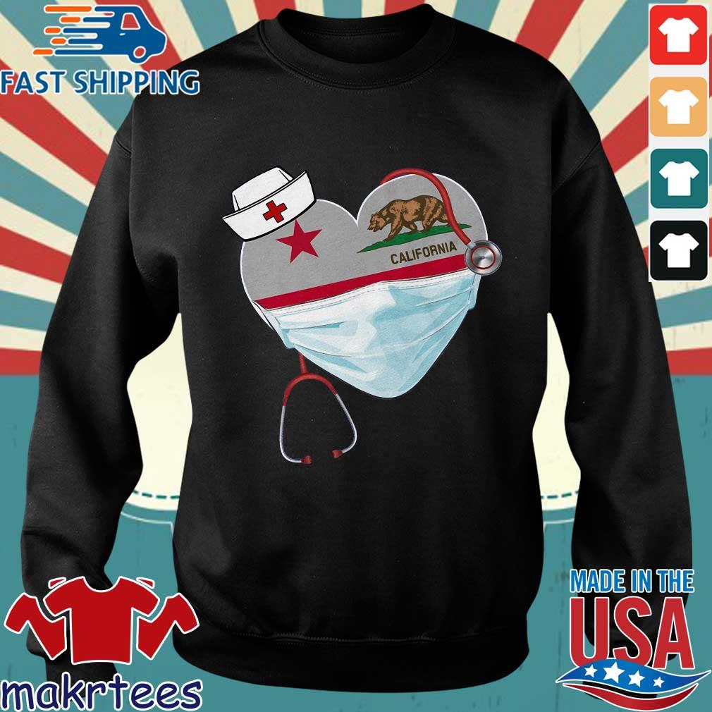 Nurse Heart Stethoscope California Shirt Sweater den