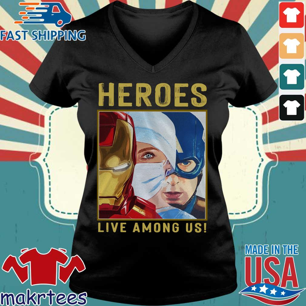 Nurse Heroes Live Among Us Shirt Ladies V-neck den