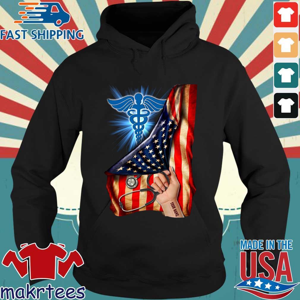 Nurse Logo American Flag Shirt Hoodie den