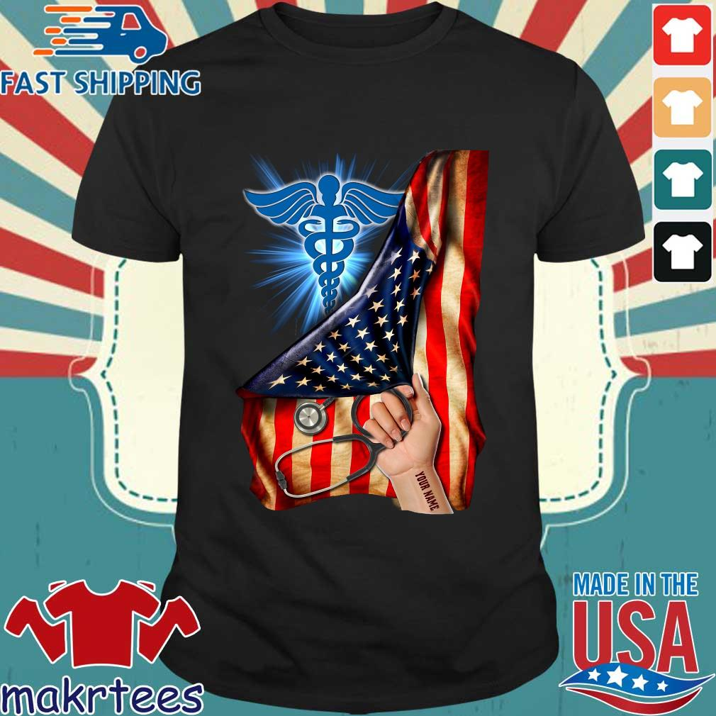 Nurse Logo American Flag Shirt