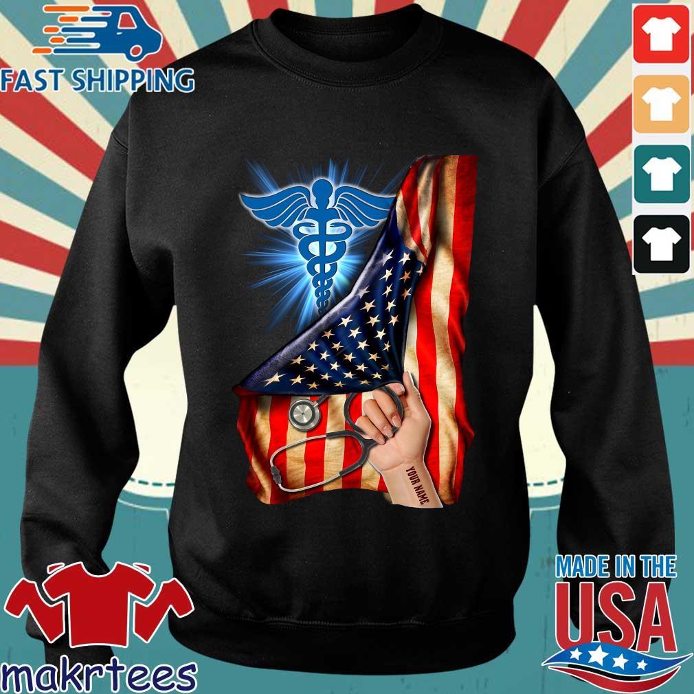 Nurse Logo American Flag Shirt Sweater den