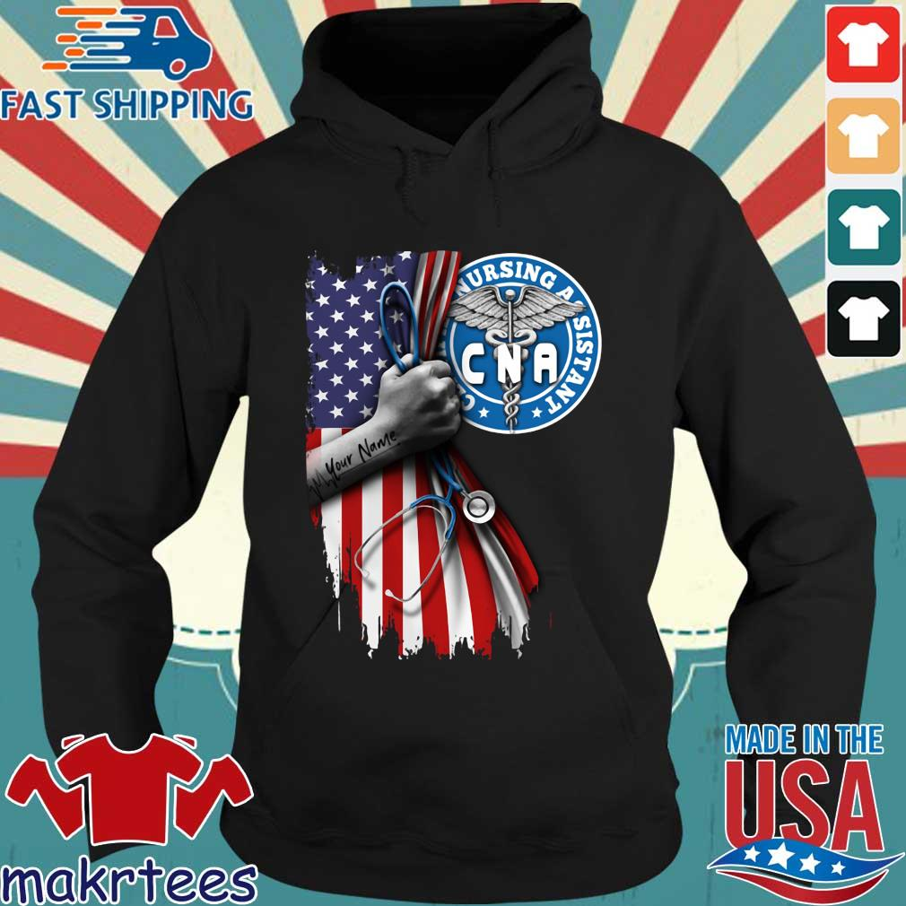 Nurse Strong American Flag Cna Certified Nursing Assistant Shirt Hoodie den