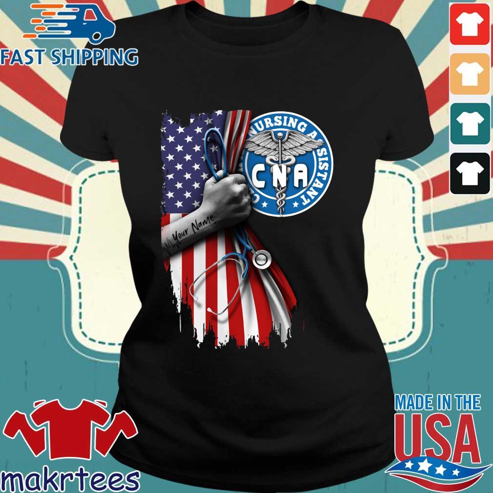 Nurse Strong American Flag Cna Certified Nursing Assistant Shirt Ladies den