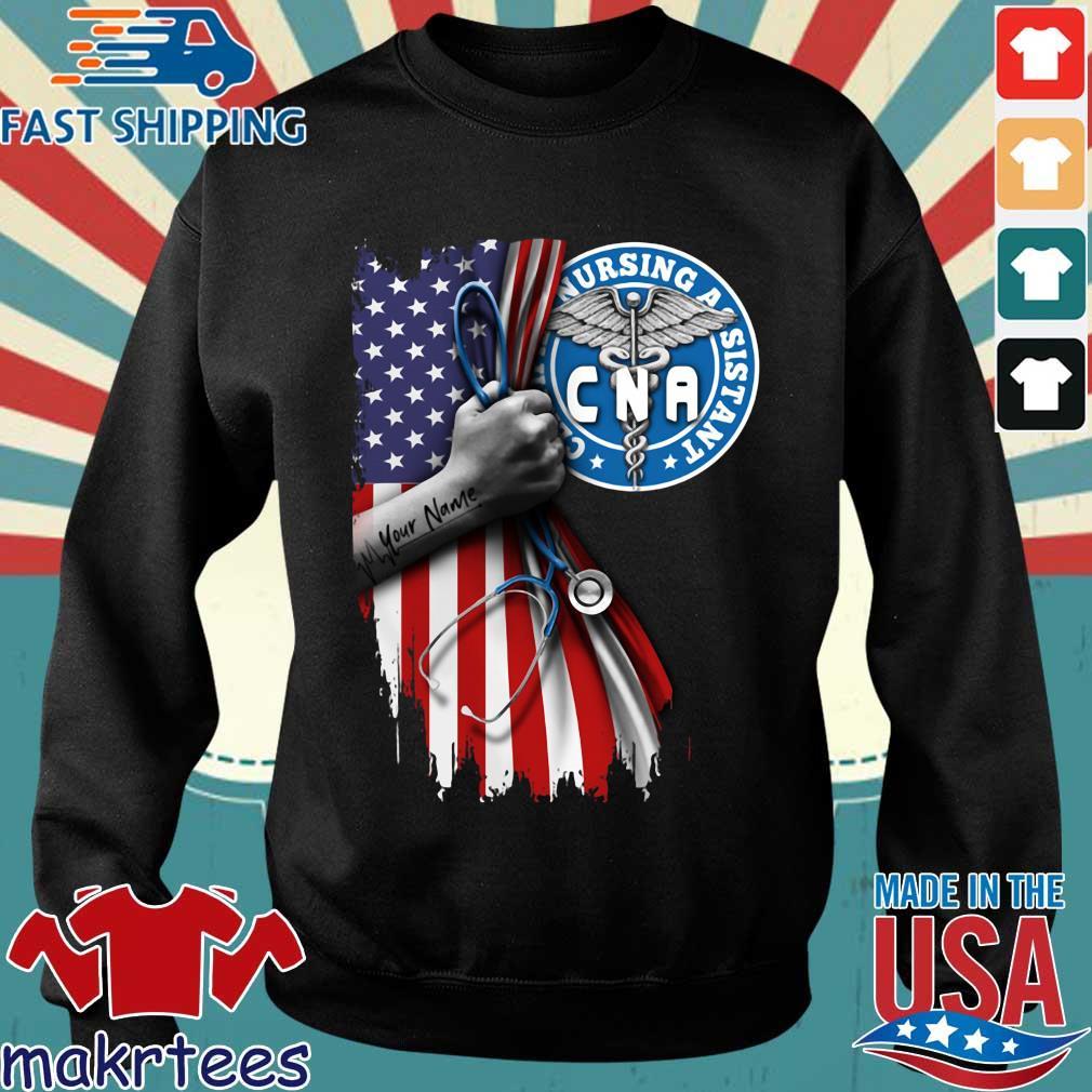 Nurse Strong American Flag Cna Certified Nursing Assistant Shirt Sweater den