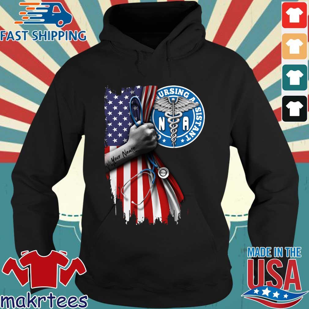 Nurse strong american flag NA certified nursing assistant s Hoodie den