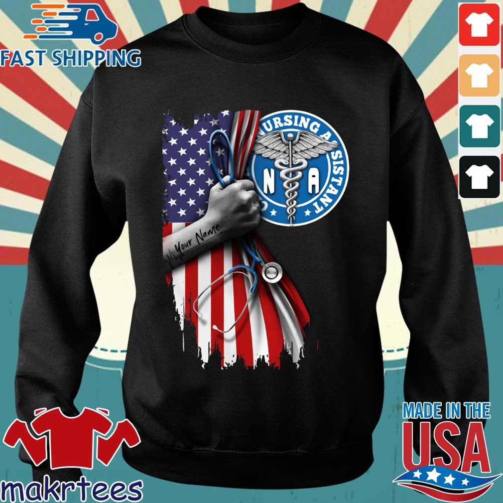 Nurse strong american flag NA certified nursing assistant s Sweater den