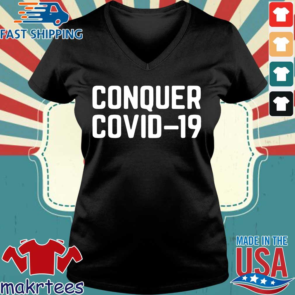 Official Conquer Covid 19 Shirt Ladies V-neck den