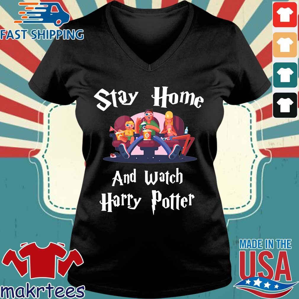 Official Stay Home And Watch Harry Potter Shirt Ladies V-neck den