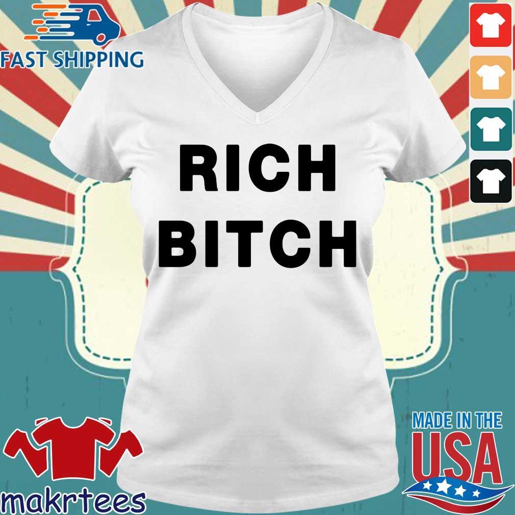 Omer Simpson Rich Bitch Shirt Ladies V-neck trang