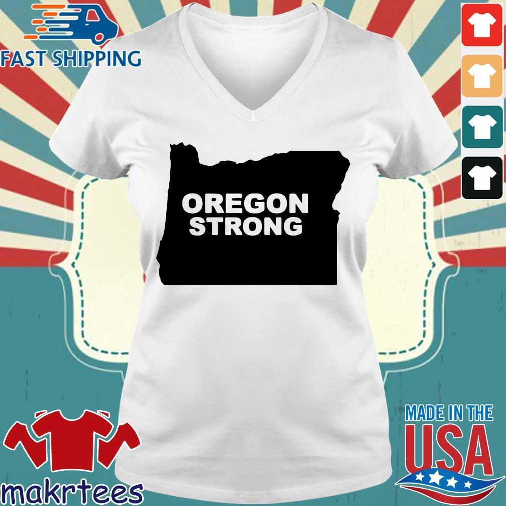 Oregon Strong 2020 T-s Ladies V-neck trang