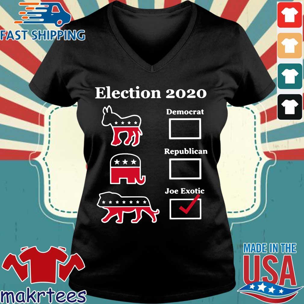 Original Joe Exotic for President Eletion 2020 T-Shirt Ladies V-neck den