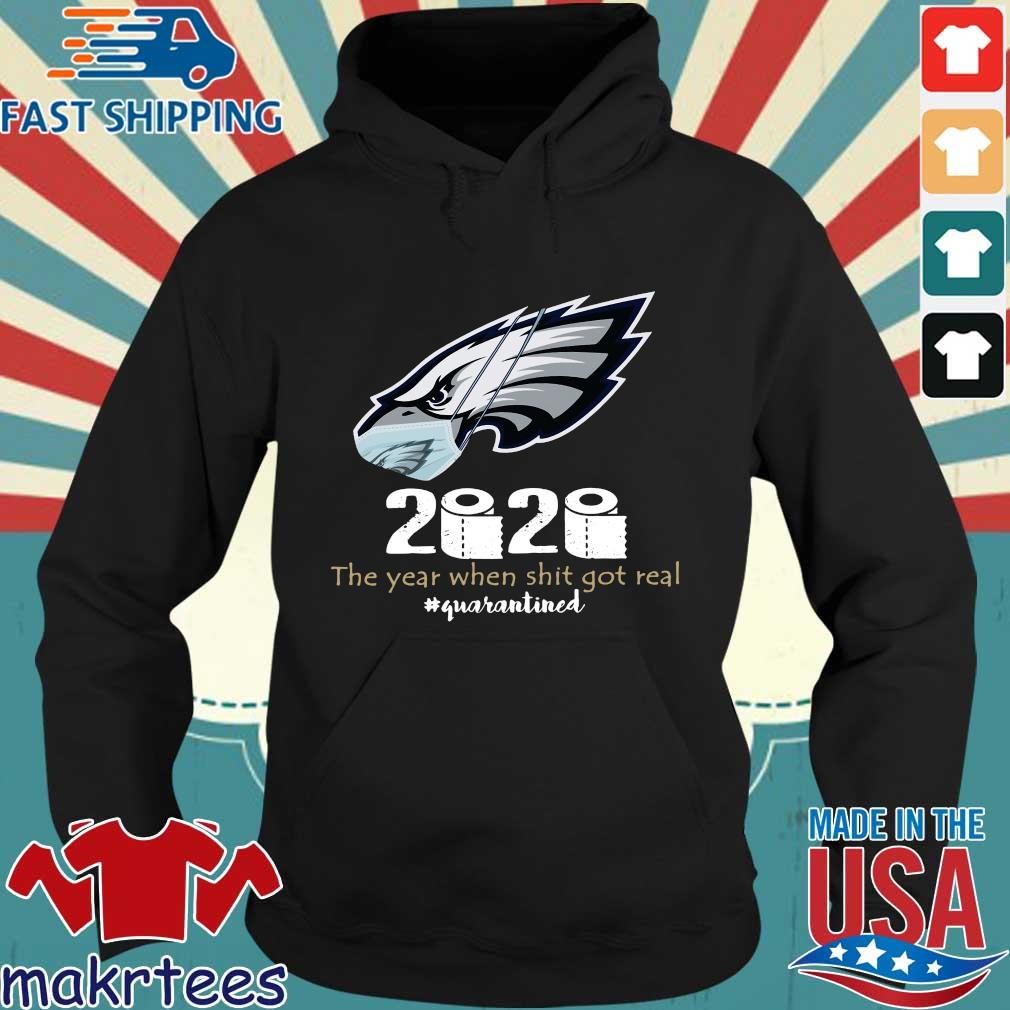 Philadelphia Eagles Face Mask 2020 Toilet Paper The Year When Shit Got Real Quarantined Shirt Hoodie den