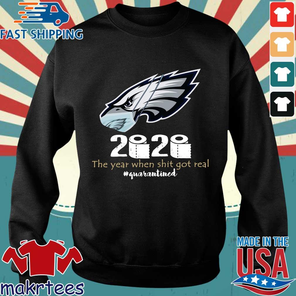 Philadelphia Eagles Face Mask 2020 Toilet Paper The Year When Shit Got Real Quarantined Shirt Sweater den