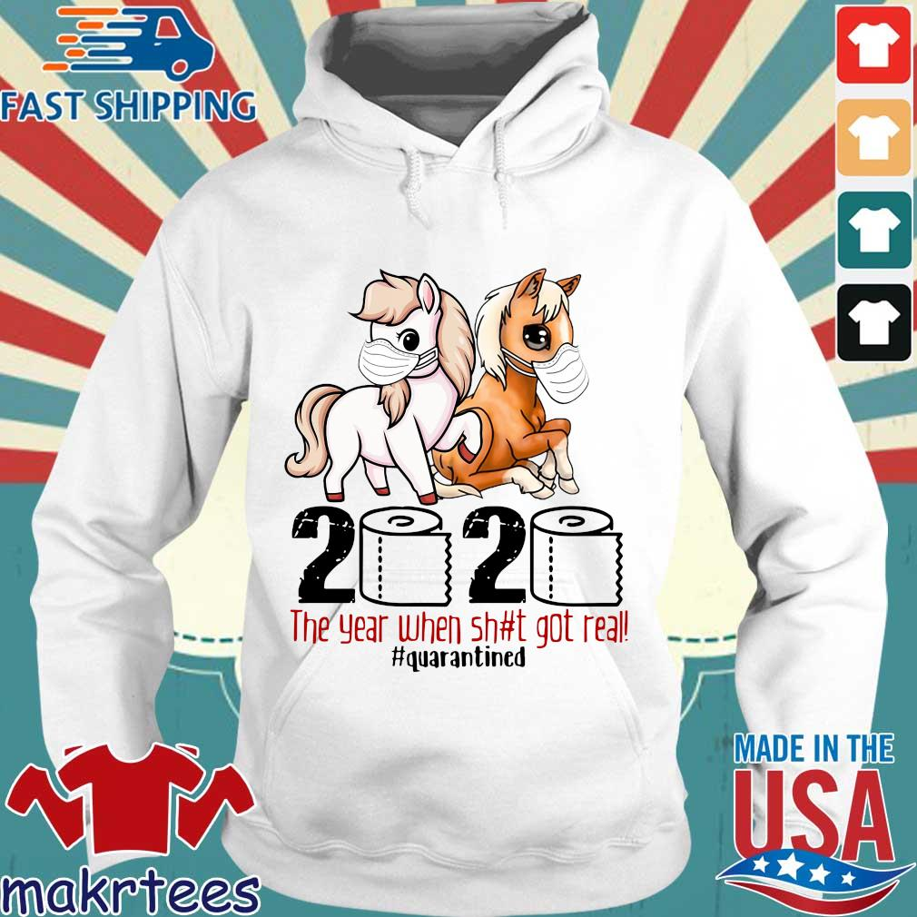 Pink Horse And Brown Horse 2020 Toilet Paper The Year When Shit Got Real Quarantined Shirt Hoodie trang