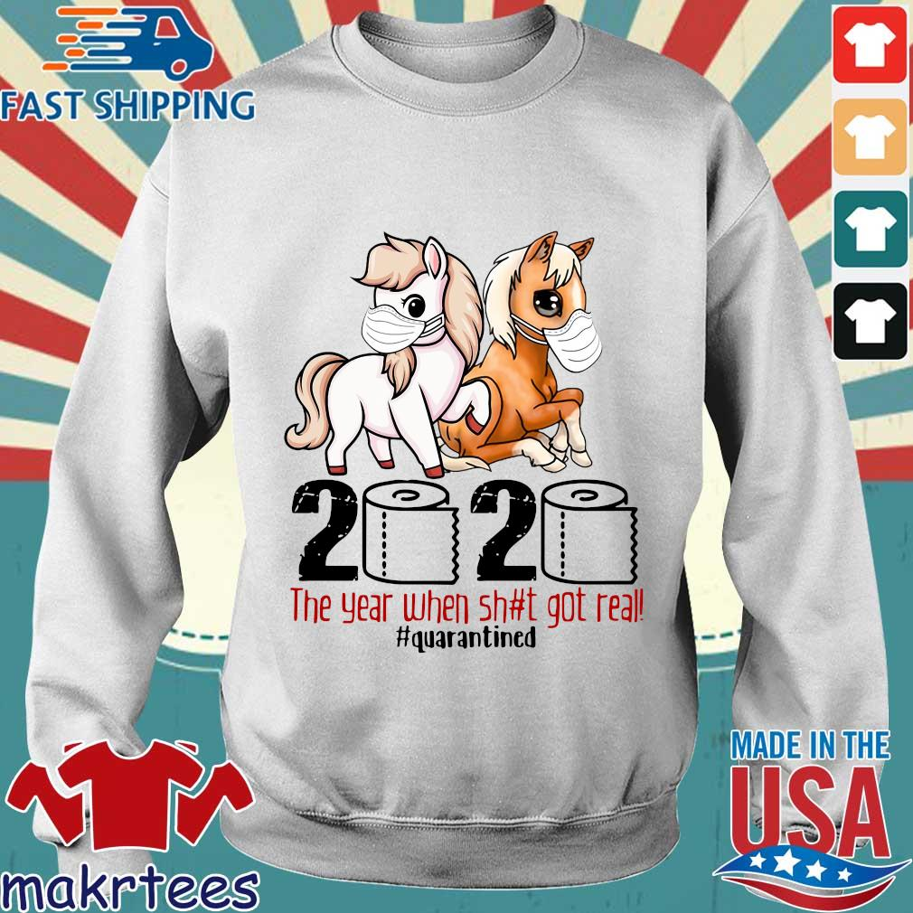 Pink Horse And Brown Horse 2020 Toilet Paper The Year When Shit Got Real Quarantined Shirt Sweater trang