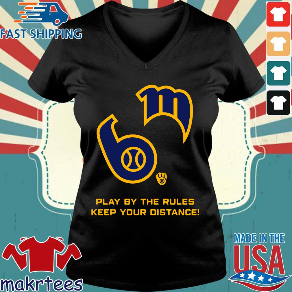 Play By The Rules Keep Your Distance Shirt Ladies V-neck den