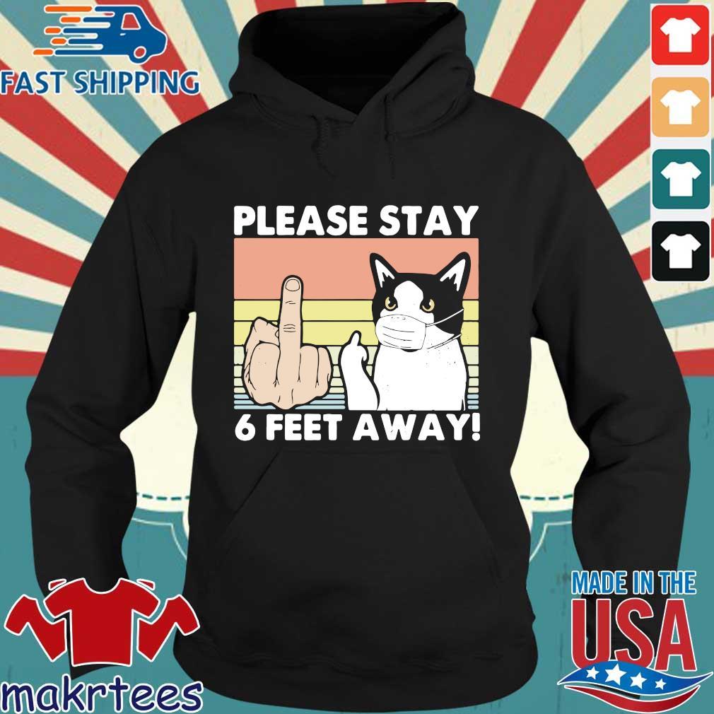 Please Stay 6 Feet Away Cat Vintage Shirt Hoodie den