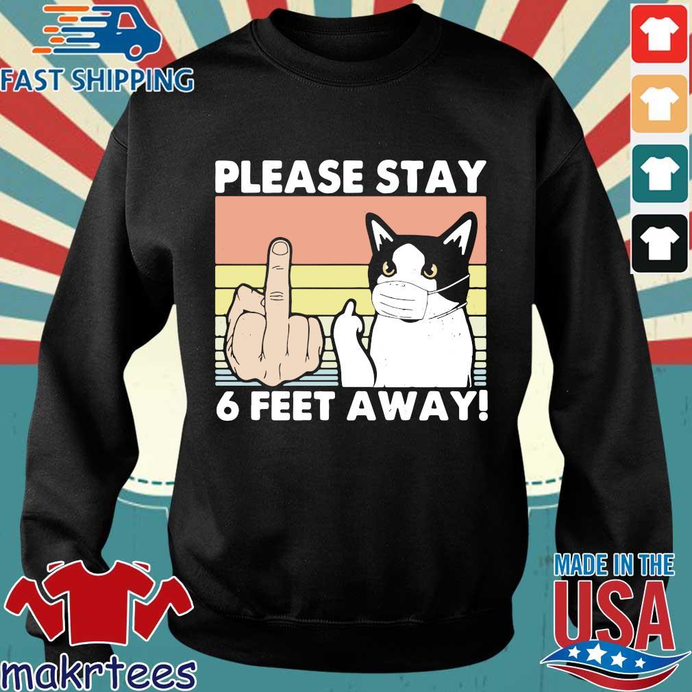 Please Stay 6 Feet Away Cat Vintage Shirt Sweater den
