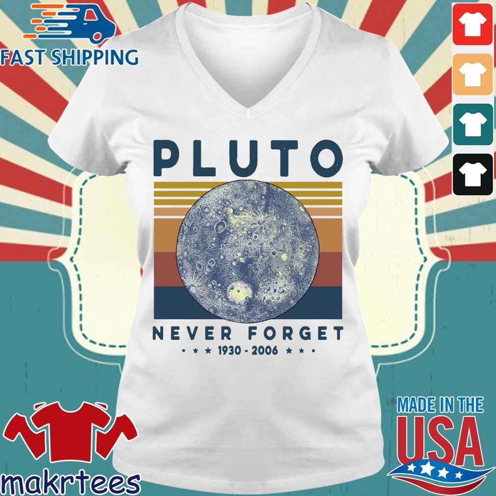 Pluto Never Forget 1930 2006 Vintage Shirt Ladies V-neck trang