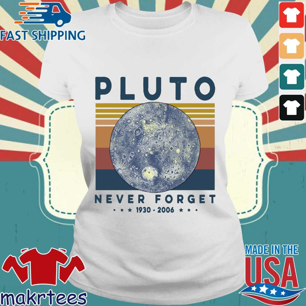 Pluto Never Forget 1930 2006 Vintage Shirt Ladies trang