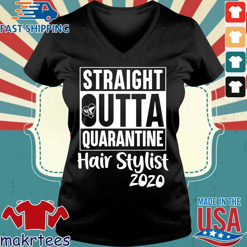 Straight Outta Quarantine Hair Stylist 2020 Graduation Men Women Black T Shirt