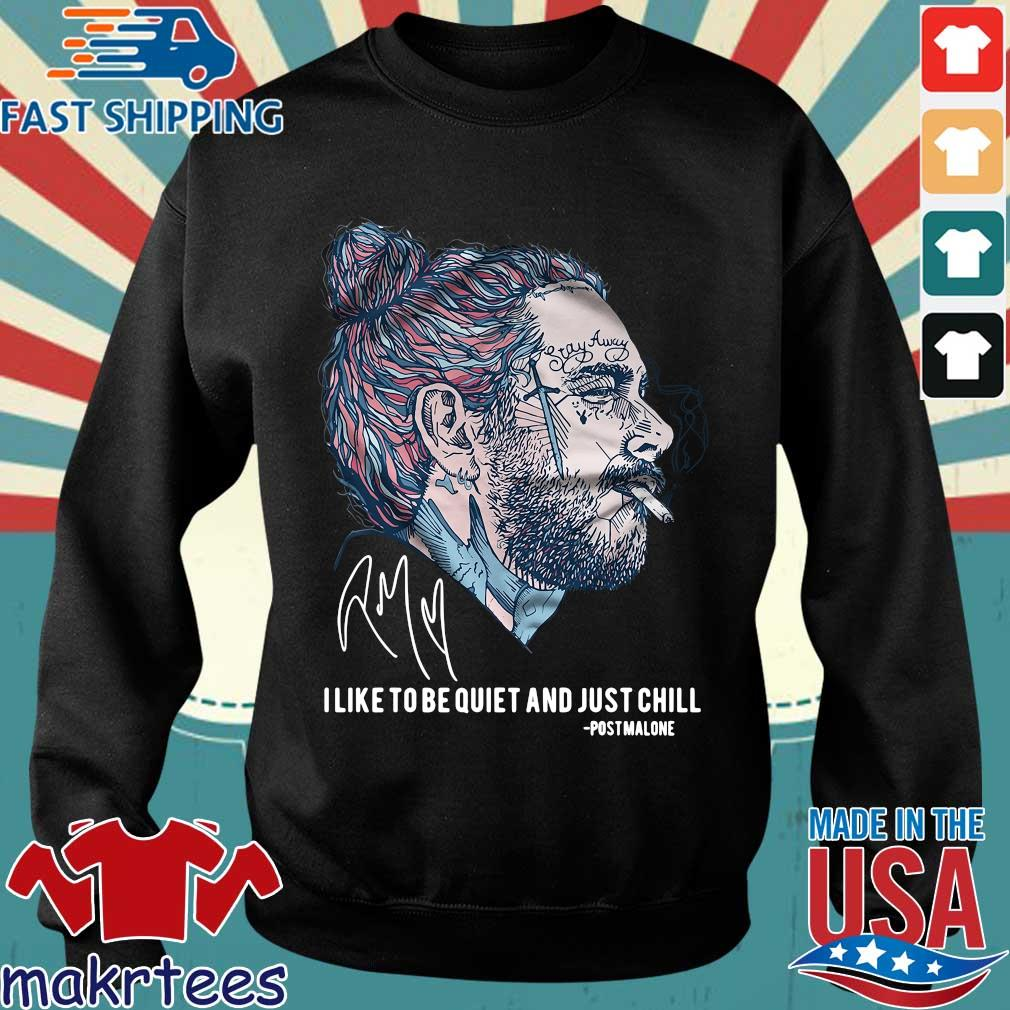 Post Malone I Like To Be Quiet And Just Chill Shirt Sweater den
