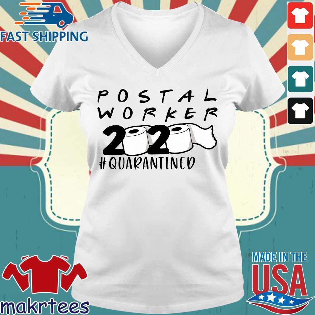 Postal Worker 2020 Toilet Paper #quarantined Shirt Ladies V-neck trang