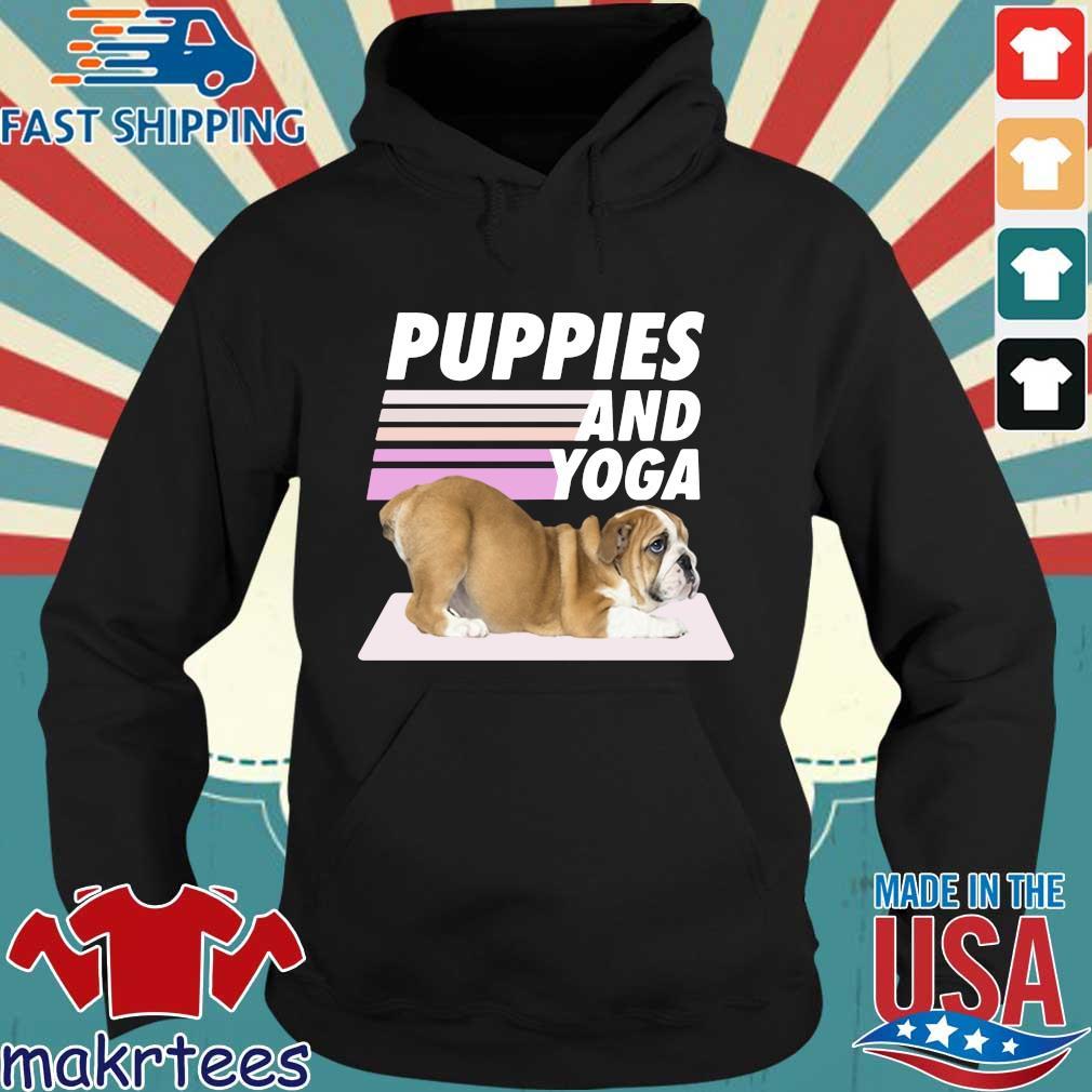Puppies And Yoga Tee Shirt Hoodie den