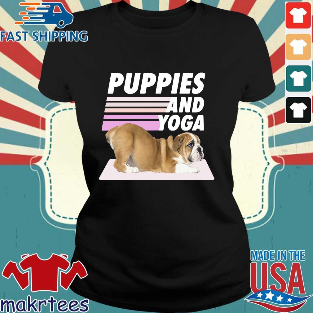 Puppies And Yoga Tee Shirt Ladies den