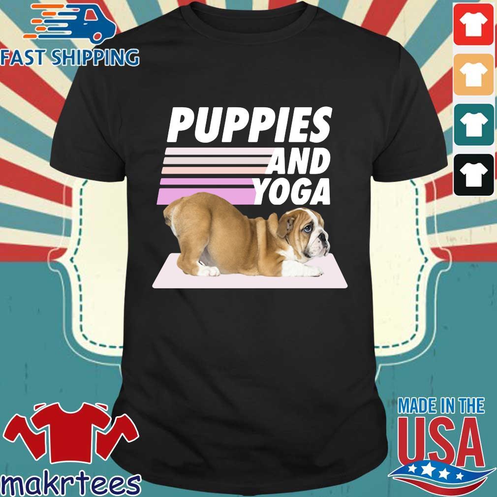 Puppies And Yoga Tee Shirt