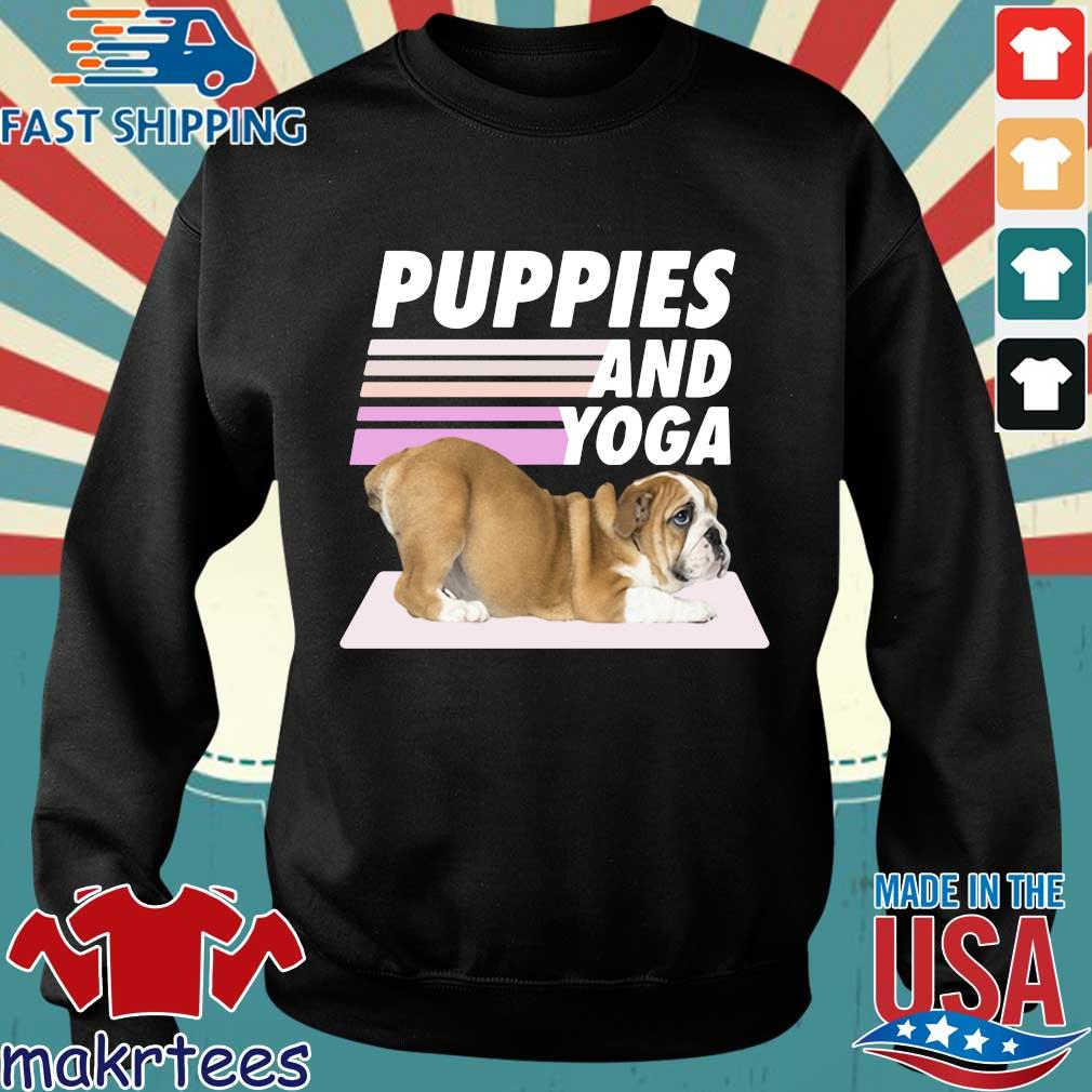 Puppies And Yoga Tee Shirt Sweater den